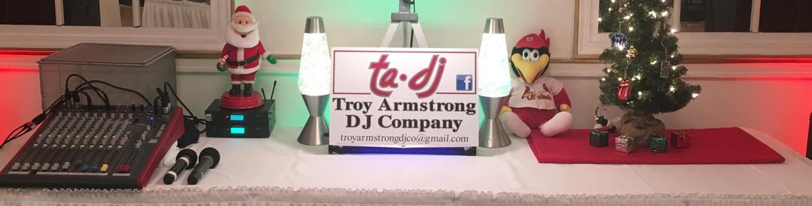Graphic banner for Troy Armstrong About Me page